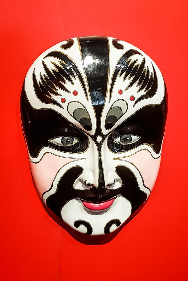 Chinese opera face stock photo