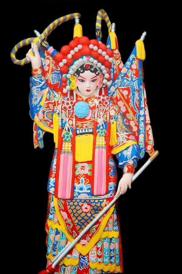 Chinese opera figure royalty free stock image