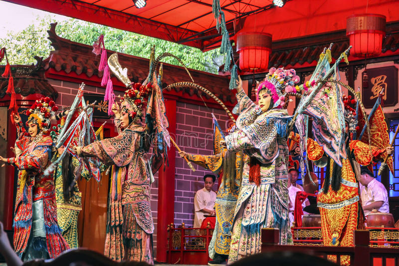 Chinese opera. The performance in Chengdu, Sichuan Province