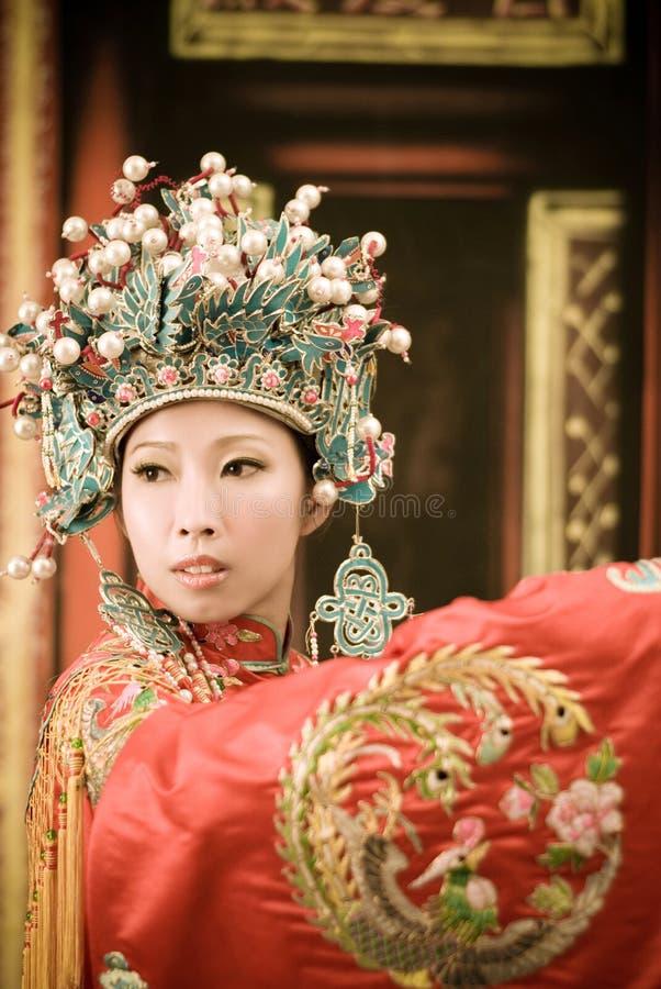 Chinese Opera woman portrait stock photography