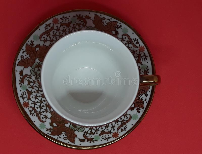 delicate and refined crockery royalty free stock photos
