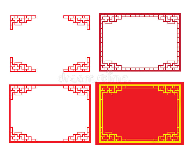 Chinese ornament for card and picture frame royalty free illustration
