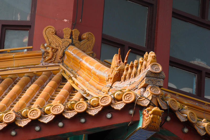 Chinese oude architecture brackets royalty-vrije stock afbeelding