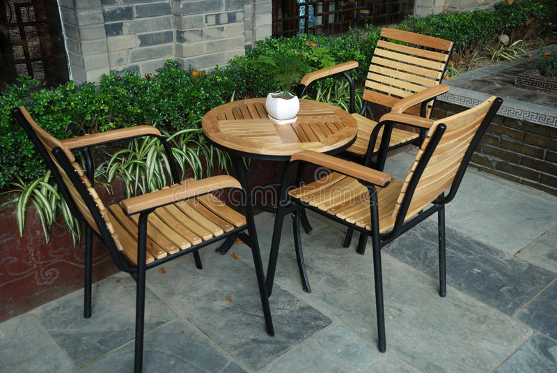 Chinese outdoor tea house. Outdoor tea house in Chengdu,China stock image