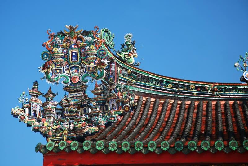 Chinese overladen tempel royalty-vrije stock afbeelding
