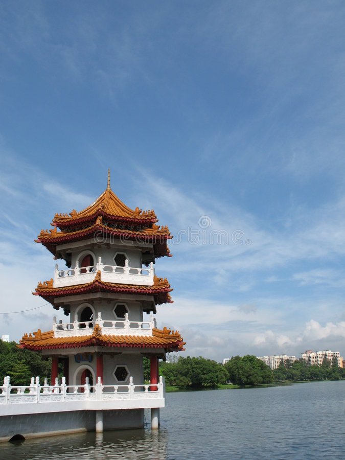 Download Chinese Pagoda stock image. Image of landmark, singapore - 2236049