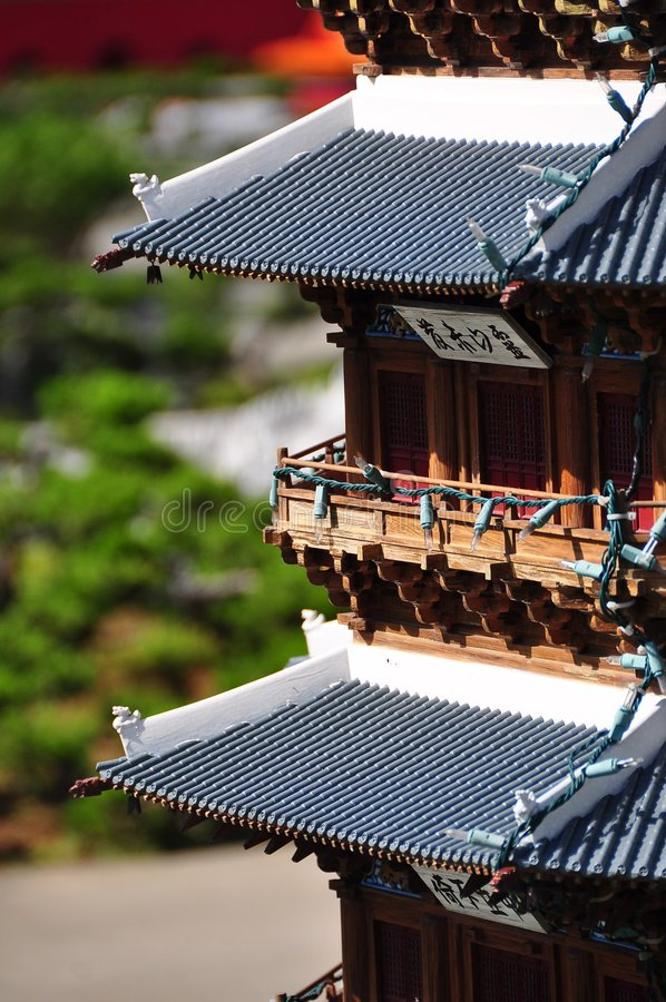 Chinese pagoda. Chinese ancient miniature pagoda royalty free stock image