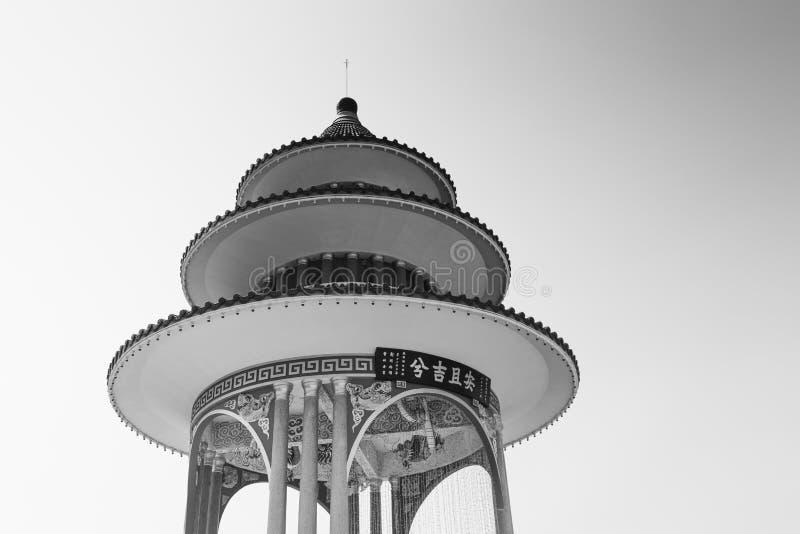 A Chinese Pagoda in Bangkok stock photography
