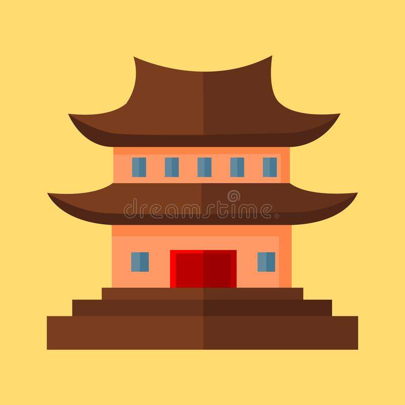 Chinese Pagoda Temple Vector Illustration Graphic. Design vector illustration