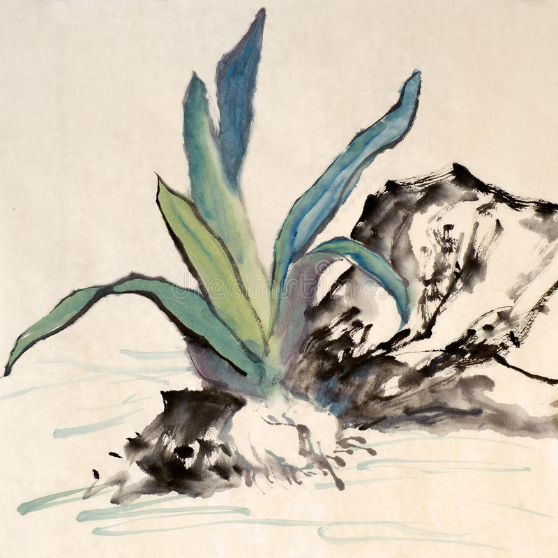 Chinese painting royalty free stock images
