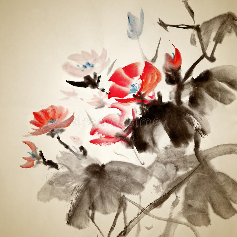 Chinese painting royalty free illustration