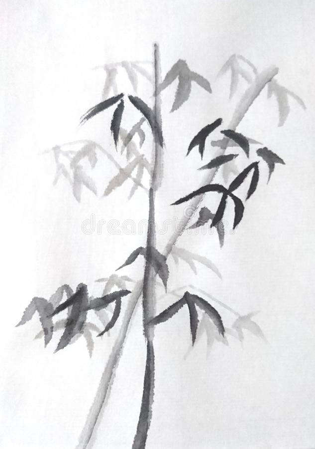 Chinese Painting Bamboo royalty free stock images