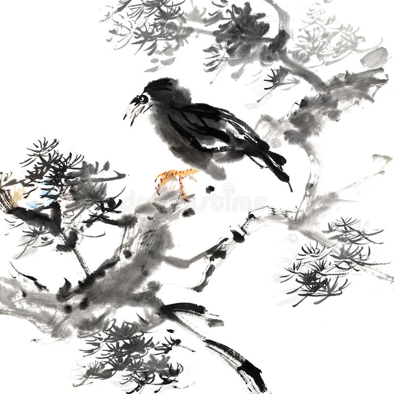 Download Chinese Painting Of Bird Stock Images - Image: 18907704