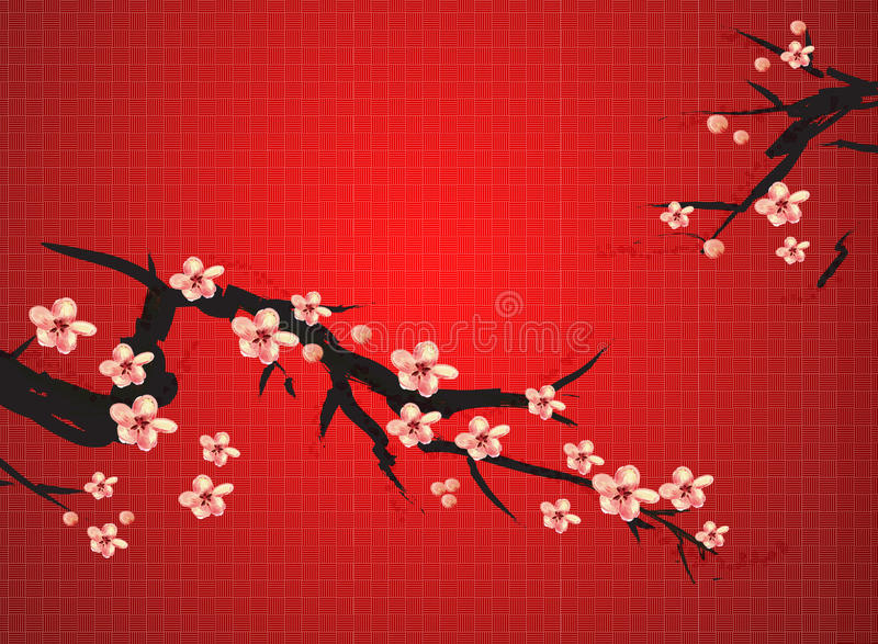 Chinese painting of plum royalty free stock images