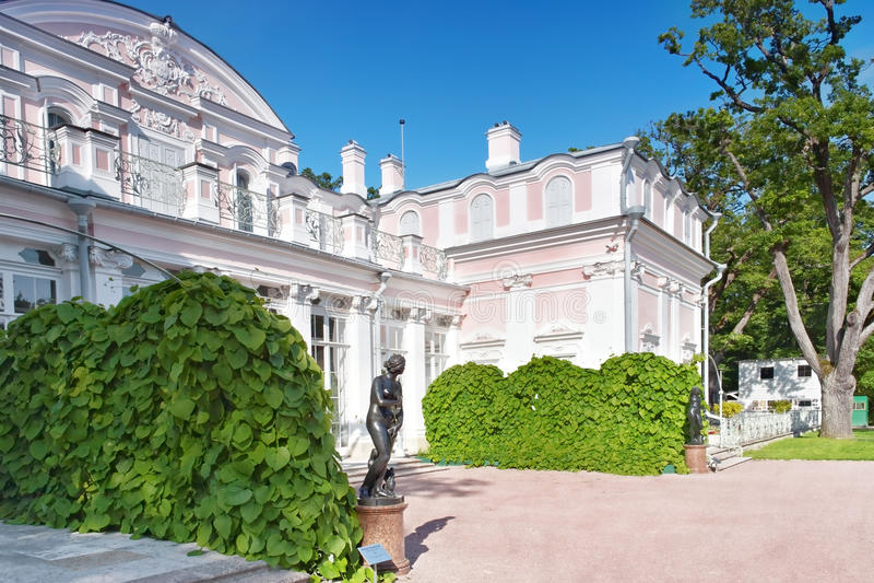 Chinese Palace in Oranienbaum (Lomonosov)park. Saint Petersburg. stock photography