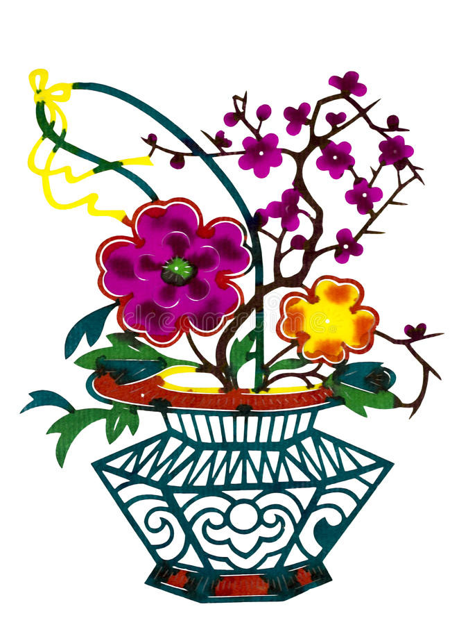 Chinese paper cut color flower basket stock photo image of culture download chinese paper cut color flower basket stock photo image of culture life mightylinksfo