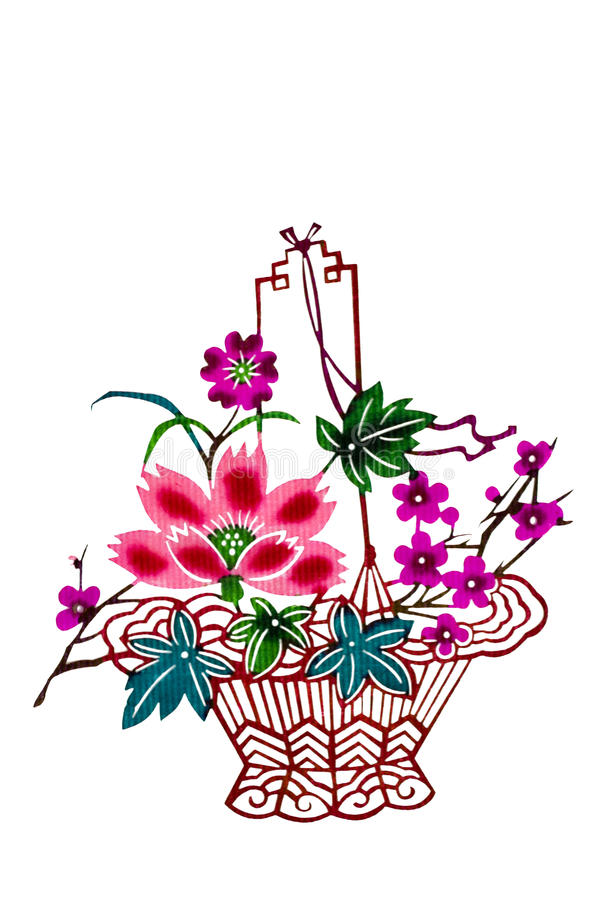Chinese paper cut color flower basket stock image image of paper download chinese paper cut color flower basket stock image image of paper chinese mightylinksfo