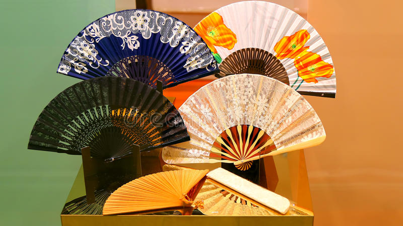 Chinese paper fans royalty free stock image
