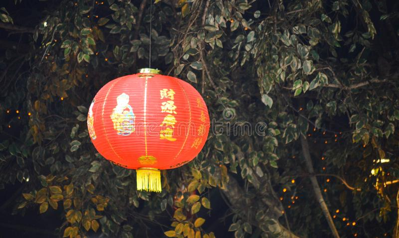 Chinese paper lampion at chinese new year celebration royalty free stock image