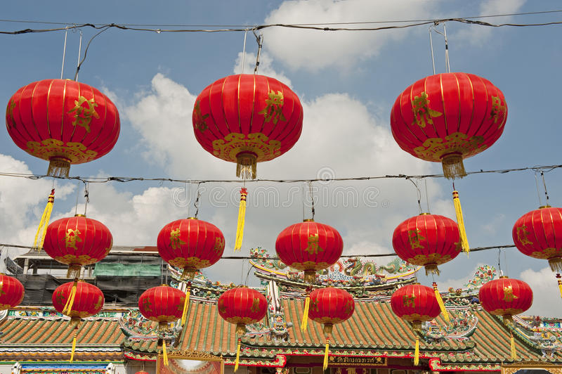 Download Chinese Paper Lanterns In Chinese New Year, Yaowaraj China Town Stock Photo - Image: 28691174