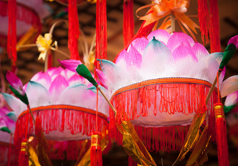 Download Chinese Paper Lanterns- Lotus Flower Lamp Stock Image - Image of colored, chinatown: 23070841