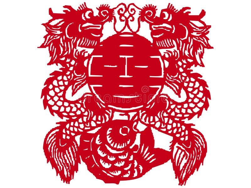 Chinese papier-besnoeiing stock illustratie