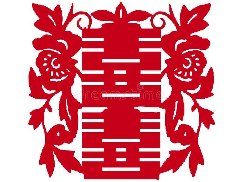 Chinese papier-besnoeiing royalty-vrije illustratie