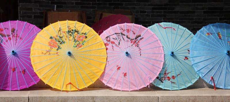 Chinese parasols royalty-vrije stock foto's