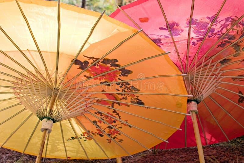 Chinese parasols. stock afbeeldingen