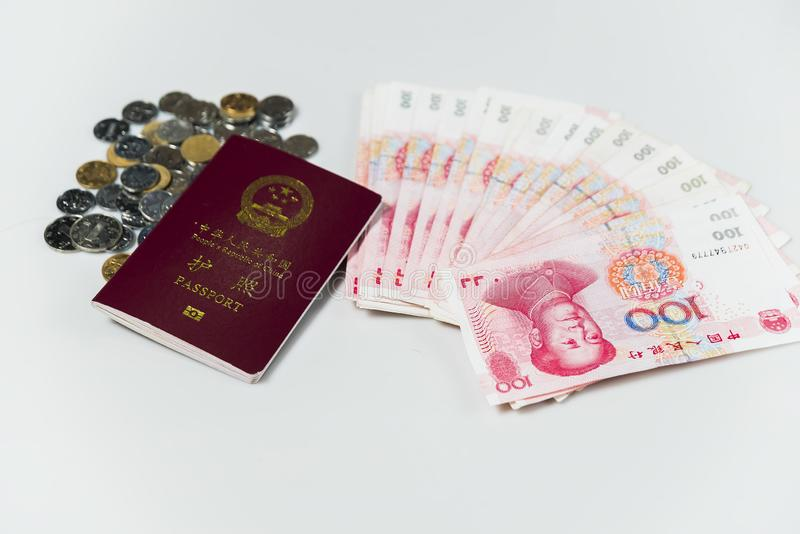 Chinese Paspoort en RMB royalty-vrije stock afbeeldingen