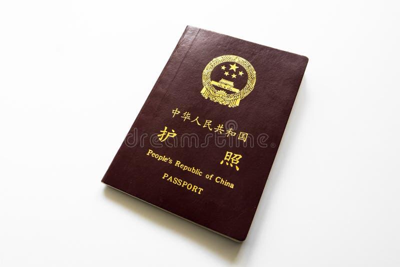 Chinese passport stock photography