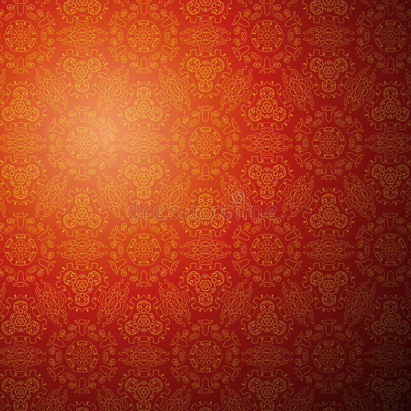 Chinese patroonachtergrond. Naadloos behang royalty-vrije illustratie
