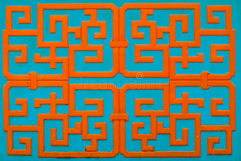 Chinese pattern. This is a chinese pattern that can found at Thean Hou Temple Malaysia stock photography
