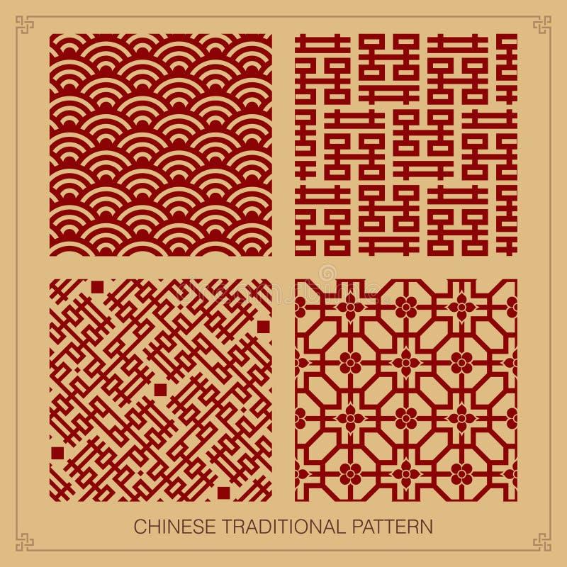 Chinese pattern design stock illustration