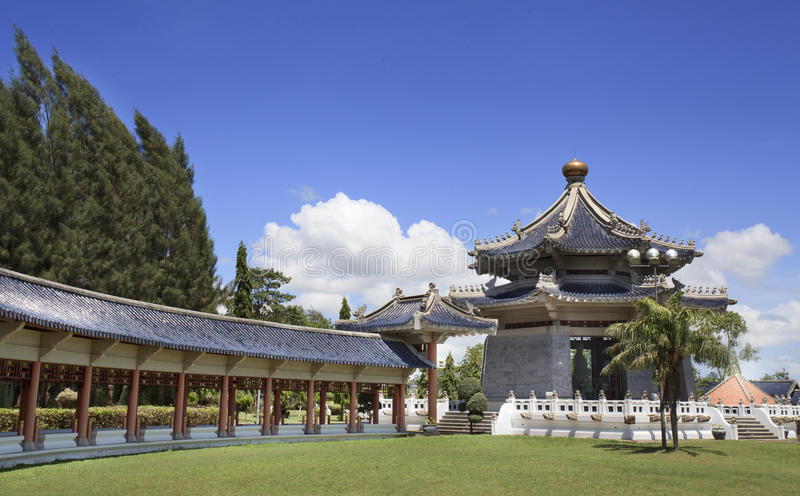 Chinese pavilion. On Chinese temple out door from Thailand royalty free stock photos