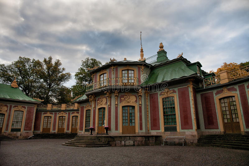 The Chinese pavilion. In Drottningholm, Stockholm royalty free stock photography