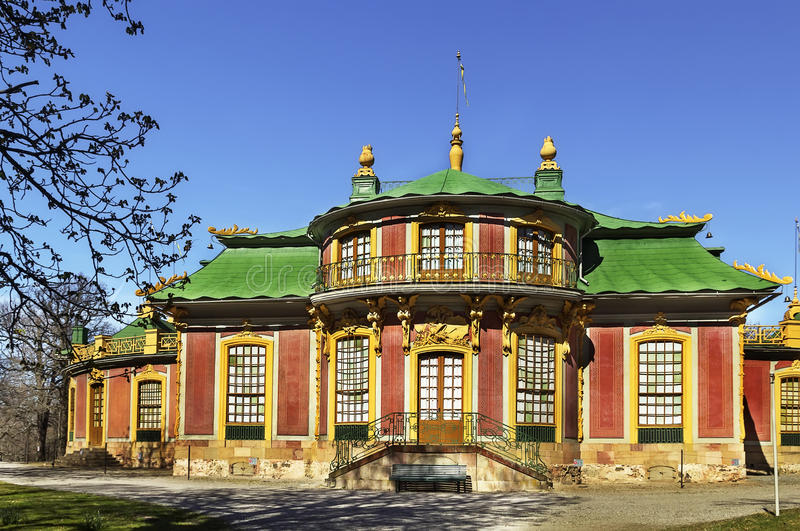 Chinese Pavilion at Drottningholm, Stockholm. The Chinese Pavilion located on the grounds of the Drottningholm Palace park, is a Chinese-inspired royal pavilion royalty free stock photos