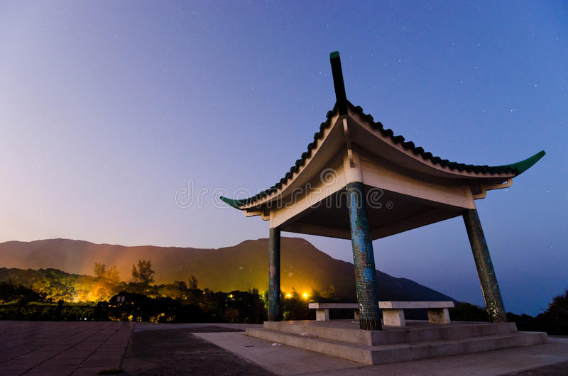 Chinese Pavilion at Night. A picture of a Chinese Pavilion at night royalty free stock images