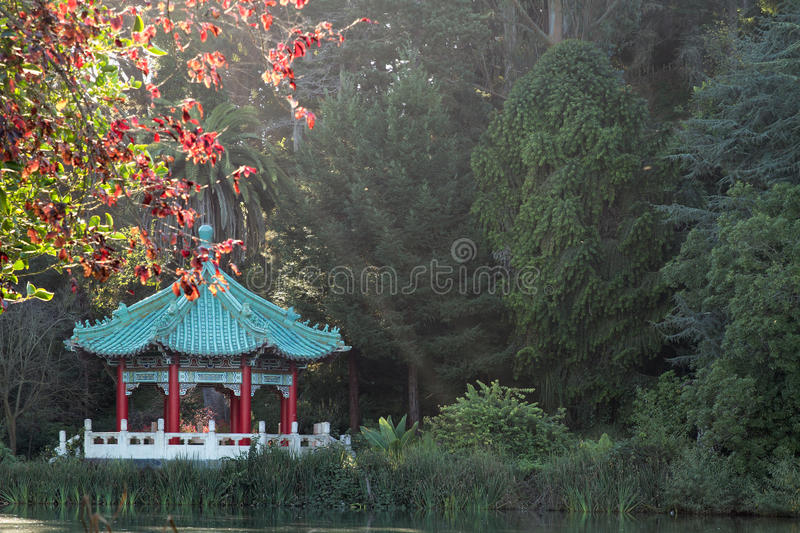 Chinese Pavilion at San Francisco Golden Gate Park. In California royalty free stock photography