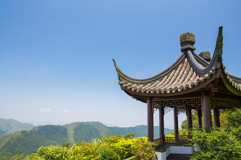 Download Chinese Pavilion stock photo. Image of hill, glow, destination - 33550044