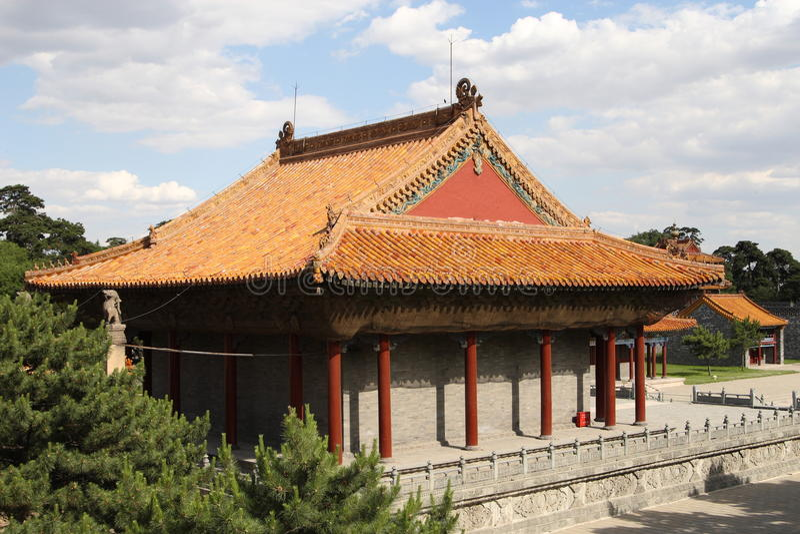 Chinese paviljoengebouwen stock fotografie