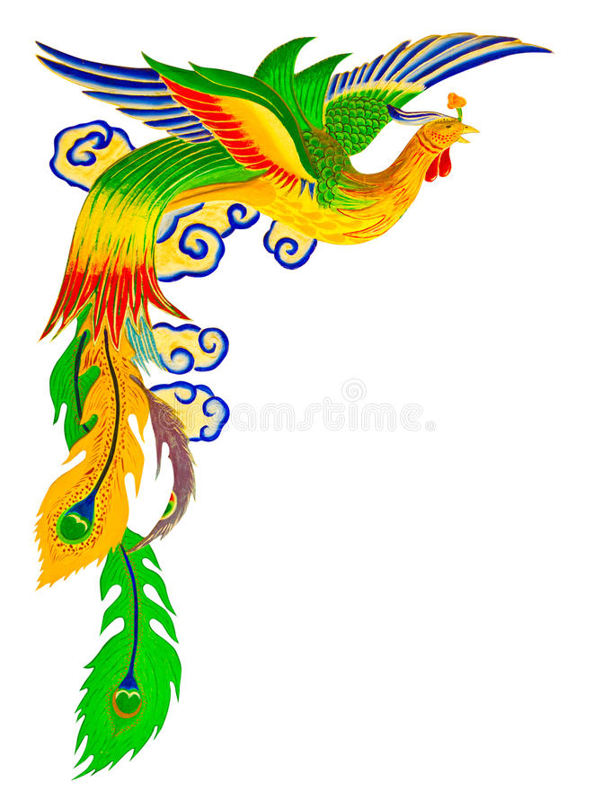 Chinese peacock with clipping path royalty free stock photos