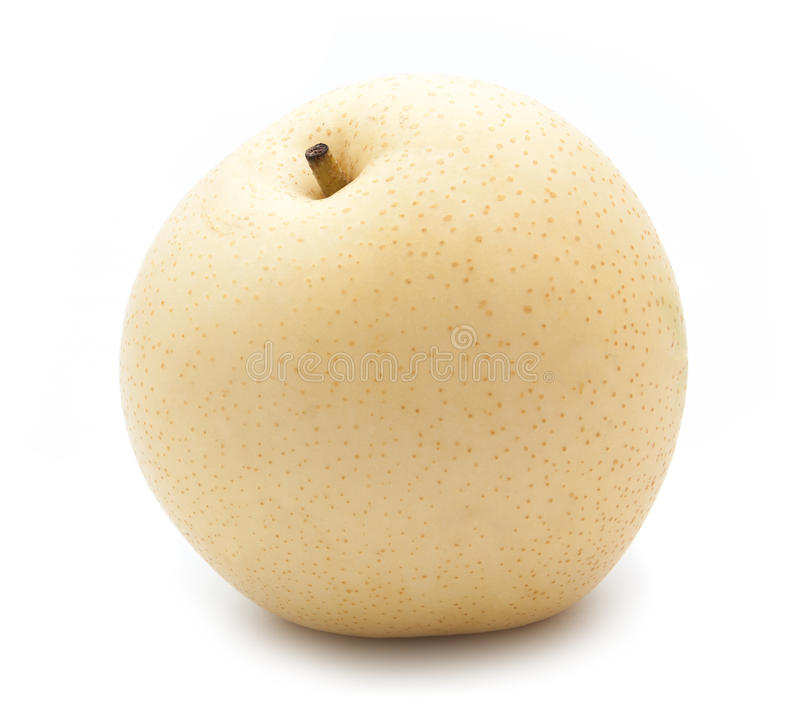 Chinese pear on white. Background royalty free stock photo