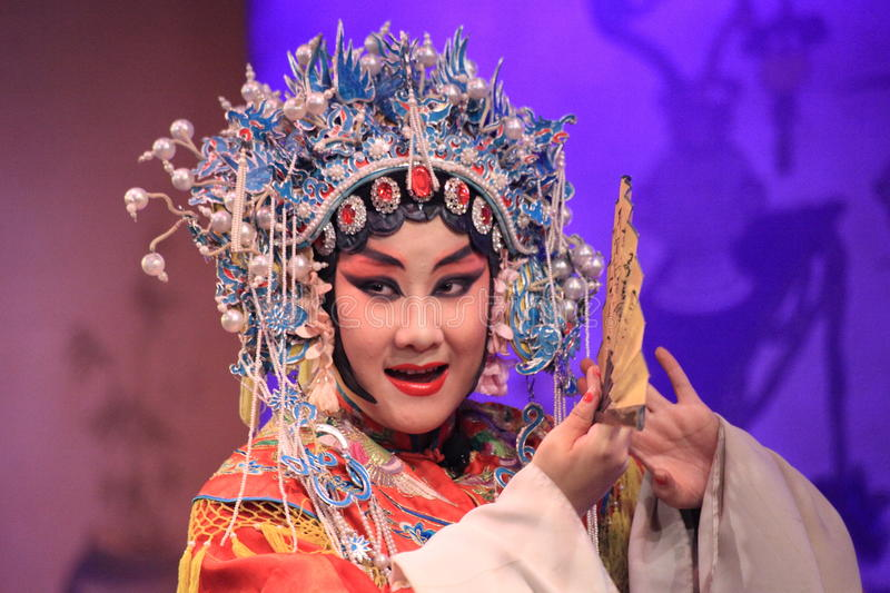 Chinese peking opera singer. Performed onstage at Dazhaimen hall on 3 December, 2009 in Beijing, China royalty free stock images