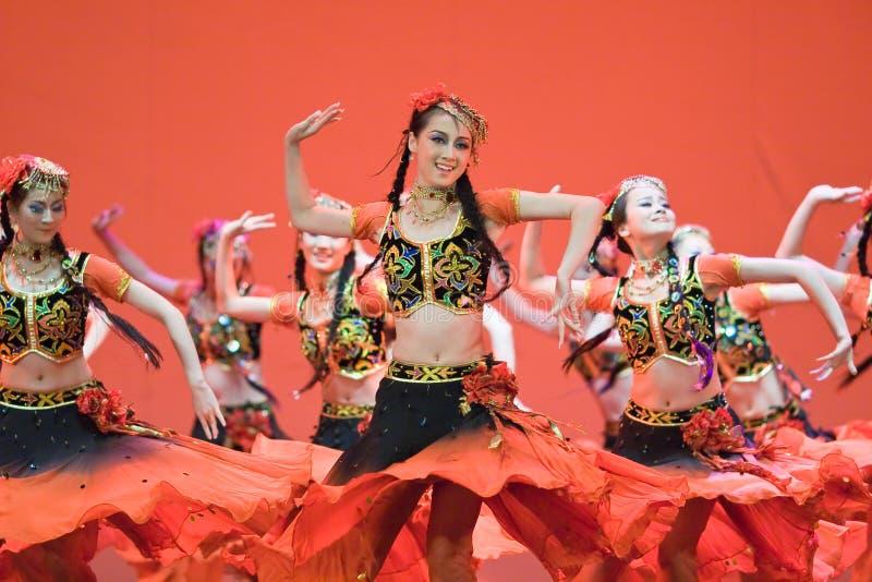 Chinese people folk dance stock photo