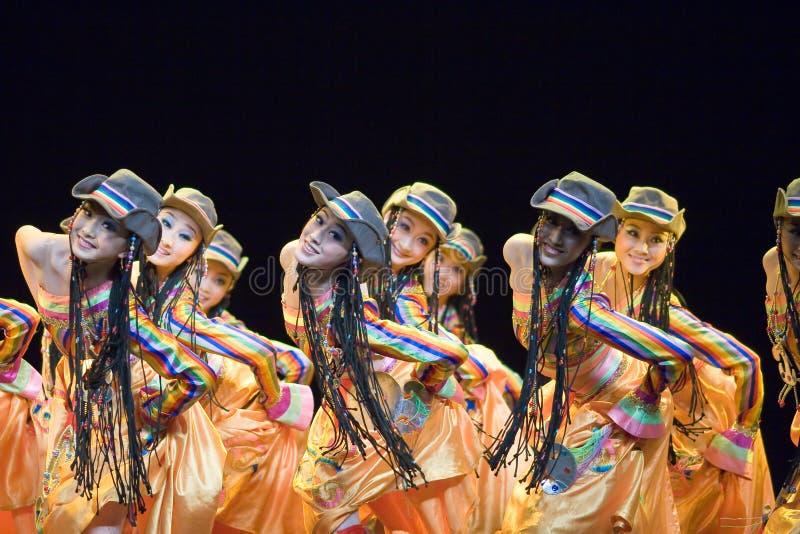 Chinese people folk dance stock image