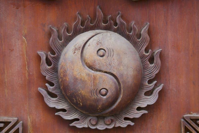 Yin and yang decoration stock image
