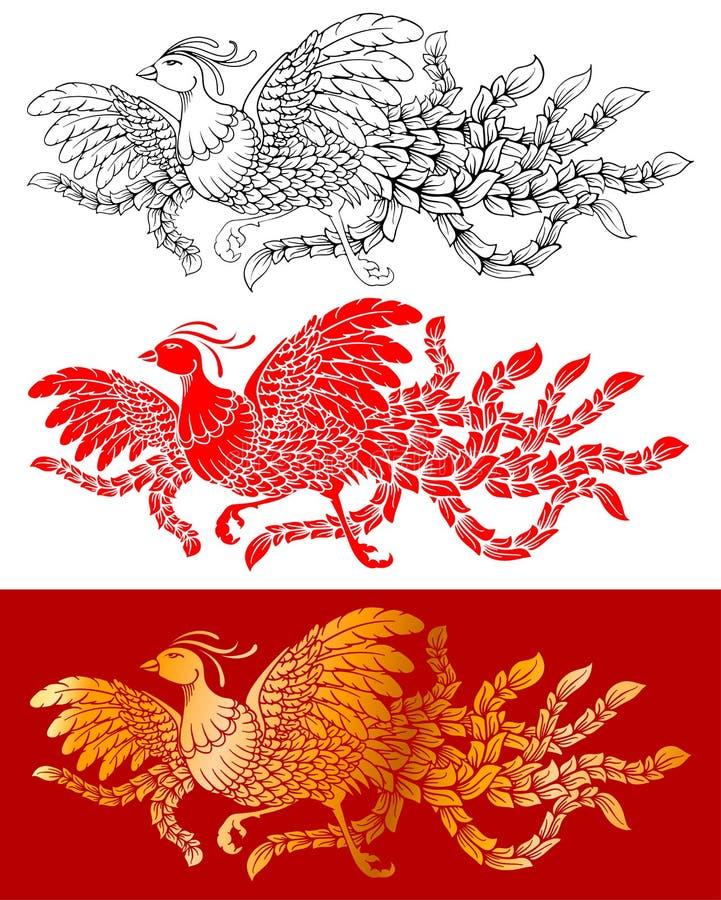 Chinese Phoenix Set stock illustration
