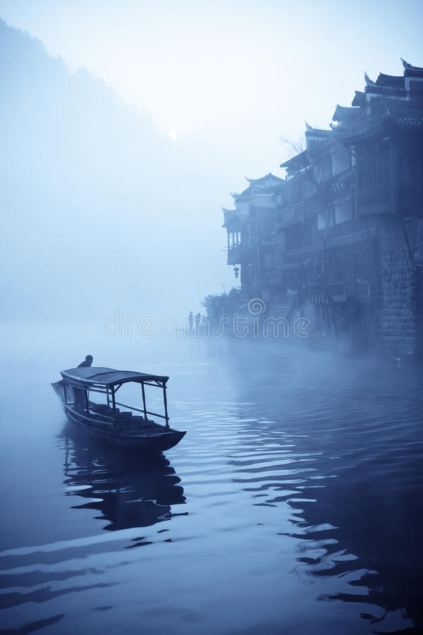 Chinese Phoenix Town At Dawn Royalty Free Stock Images