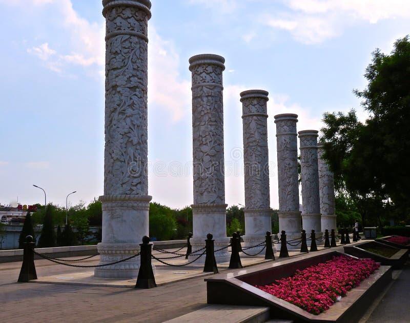 Chinese pijlers stock afbeeldingen